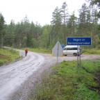 An der schwedisch-norwegischen Grenze