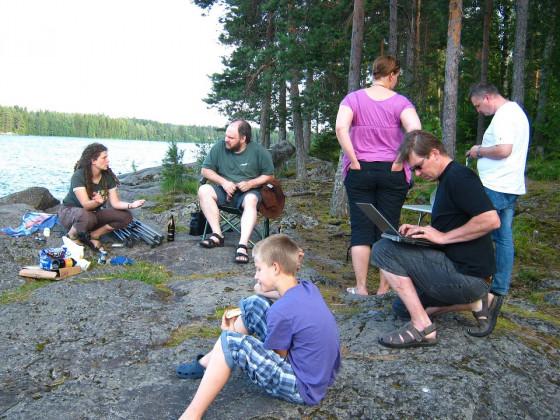 Finnland, Virrat, Party mit den Eingeborenen